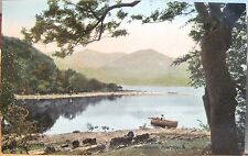 Irish Postcard Isle of INNISFALLEN Boat Lakes of Killarney Ireland Valentine