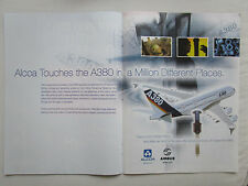 5/2004 PUB ALCOA FASTENING SYSTEMS LOCKBOLTS AIRBUS A380 AIRLINER ORIGINAL AD