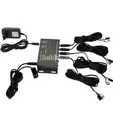 Kit IR Remote Extender 8 Emitters1 Receiver Infrared Repeater Hidden System BE0D