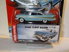 AUTO WORLD BLUEBONNET BLUE 1958 PLYMOUTH FURY REL 5D PREMIUM CLASSIC CHROME LTD