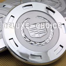 1pc CHROME FINISH with SILVER LOGO WHEEL CAP HUB CENTER CADILLAC ESCALADE