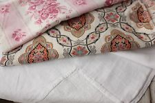 Linen + French floral  pillow pack cutting projects linen bundle old pieces