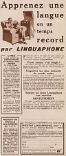 Y8430 Institute LINGUAPHONE - Paris - Pubblicità d'epoca - 1934 Old advertising
