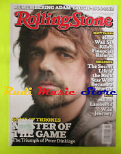 ROLLING STONE USA MAGAZINE 1157/2012 Peter Dinklage George R.R. Martin  No cd