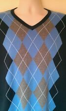 Mens BANANA REPUBLIC jumper sz XL in excellent condition! Blue,diamonds,V necked