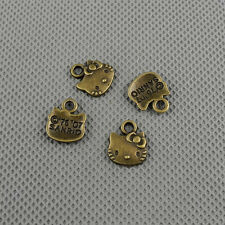 6x Craft Supplies Jewelry Making Findings Retro Charms A1873 Kitten Cat Head