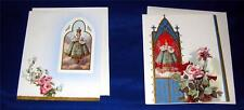 2 VTG BLANK CATHOLIC RELIGION 1950'S UNUSED INFANT PRAGUE EASTER CARDS, ENV