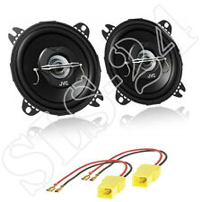 JVC 2-Wege Lautsprecher BOXEN 210W 100mm + Fiat Punto 188 LSP Adapter Einbauset