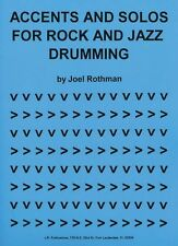 Joel Rothman Accents & Solos For Rock & Jazz Drumming PLAY DRUMS Music Book
