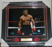 "MIKE TYSON SIGNED PHOTO AUTO 16X20 FRAMED & MATTED JSA COA ""IRON MIKE"""