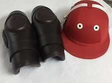 Polo/ridding Knee Guards Helmet For Kids -8 To 16 Year Ladies Size