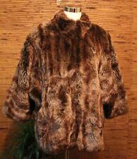 Faux Fur Winter Coat Dennis by Dennis Basso Large Thick Warm Zip Up Front LN