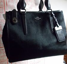 COACH Crosby Carryall Satchel in Hair calf Black F33535 Limited Edition