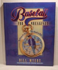 Baseball for Breakfast by Bill Myers (1999, Hardcover Book) Autographed Signed
