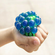 1Pcs Anti Stress Face Reliever Grape Mesh Ball Mood squeeze Relief Healthy Toy