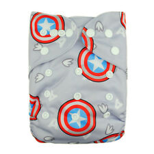 1 Gray Star Baby Infant Cloth Diaper Reusable Washable Adjustable Pocket Nappy