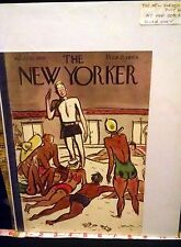 Rare Original VTG 1935 The New Yorker At the Beach Cover Only Art Print