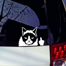 Grumpy Cat Flippin Off vinyl Car Laptop Graphics window Sticker Decal Decor Cute