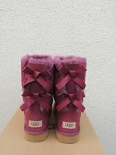 UGG BOUGAINVILLEA BAILEY BOW II SUEDE/ SHEEPSKIN BOOTS, WOMENS US 11/ EUR 42 NIB