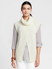 NWT Banana Republic Women's Cross-front Turtleneck Color White Size M