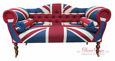 Gorgeous Bespoke Union Jack Design Double Ended Chaise Sofa  **HAND MADE IN UK**