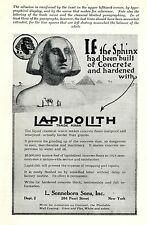 L. Sonneborn Sons Inc. NEW YORK * lapidolith * American ad. in the thirties