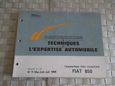 REVUE TECHNIQUE AUTO EXPERTISE CARROSSERIE FIAT 850 COACHES