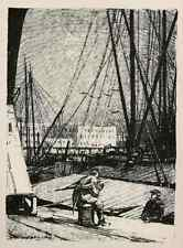 BASSIN GUILLAUME 1915  ANVERS - Luigi KASIMIR - ANTWERPEN - Lithographie
