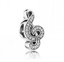 JS312 musical note Silver charms bead Fit European Bracelet/Necklace Chain