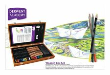 Derwent Academy Wooden Box Pencil Set Watercolour Sketching
