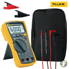 FLUKE 117 True RMS Digital Multimeter with Volt Alert Detector | AC285 | Case
