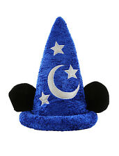 Disney Parks Sorcerer Mickey Mouse Plush Ears Hat NEW