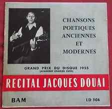 """JACQUES DOUAI  LP ORIG FR 25 CM 10""""  CHANSONS POETIQUES ANCIENNES ET MODERNES"""