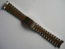20MM GOLD ALLOY PLATED 2-TONE JUBILEE BAND BRACELET FOR ROLEX MEN DATEJUST WATCH