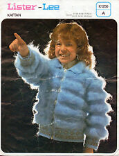 ~ Vintage 1970's Knitting Pattern For Child's Zip-Up Jacket To Knit ~