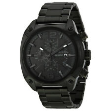 Diesel Advanced Chronograph Black Dial Black Ion-plated Mens Watch DZ4223