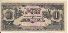 MALAYA, $1, JAPANESE OCCUPATION WWII, ND(1942)