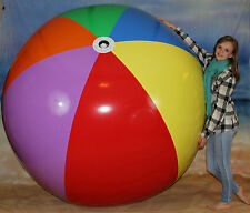 """GIANT 108"""" Inflatable 7 Color Beach Ball `HEAVY DUTY` Huge Prop, Fun Pool Toy"""