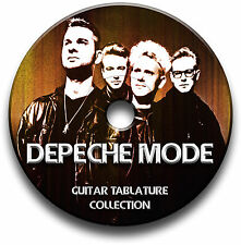 DEPECHE MODE POP ROCK PIANO KEYBOARD GUITAR TABS TABLATURE SONG BOOK SOFTWARE CD