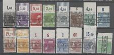 All. Bes. ex 36 - 51 P & W, Platte, Walze Ober- Unterrand, alle postfrisch #d564