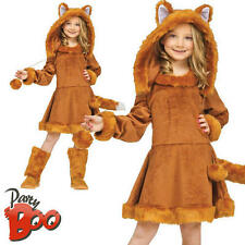 Sweet Fox Ages 9 10 11 12 Girls Animal Fancy Dress Halloween Kids Book Costume
