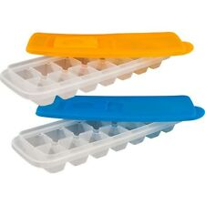 Set of 2 Stackable Ice Cube Trays with Lids by Chef Buddy