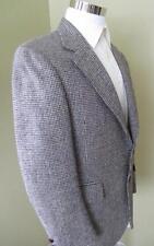 Vintage Harris Tweed men's 40R brown 100% scottish wool jacket blazer sportcoat