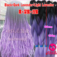Purple Ombre Kanekalon Jumbo Braiding Synthetic Hair Extension Twist Braids