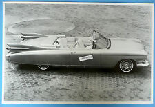"12 By 18"" Black & White Picture 1959 Cadillac El Dorado Convertible Top Down"