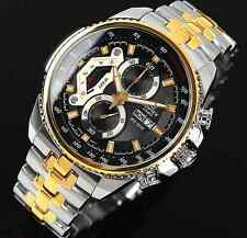 Casio Edifice Chronograph Men's Two Tone Sport Day Date Watch EF-558SG-1A New