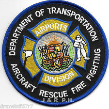 "Hawaii - Airports Division  A.R.F.F. - D.O.T.  (4"" round size) fire patch"