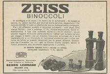 Z1766 Binoccoli ZEISS - Pubblicità d'epoca - 1923 Old advertising