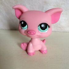 Littlest Pet Shop~#330~Fuchsia Pink Smiling Pig~Green Dot Eyes 6 pics USA seller