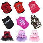 Unisex Pet Winter Clothes Puppy Dog Cat Vest T Shirt Coat Dress Sweater Apparel